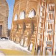 秋野不矩『テラコッタの寺院』