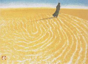 秋野不矩『砂漠のガイド』 秋野不矩