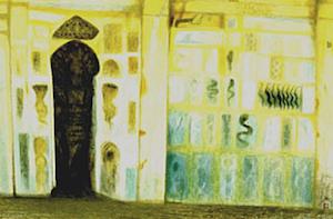 秋野不矩『廻廊の壁画』 秋野不矩