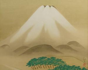 安田靫彦「富士」
