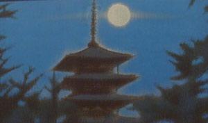 法隆寺の月夜