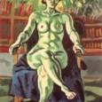 梅原龍三郎『竹窓裸婦』