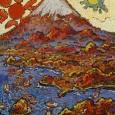 絹谷幸二『日月淡島富士』