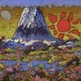 絹谷幸二『湖上日月富士山』