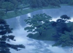 東山魁夷「緑潤う」 東山魁夷