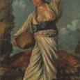 黒き土の上に立てる女 1914年 似鳥美術館