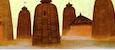 秋野不矩『オリッサの寺院』