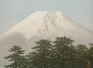 坪内滄明「富岳松林」