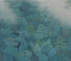 東山魁夷『狭霧』 東山魁夷