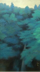 東山魁夷『緑溪』 東山魁夷