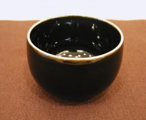 板谷波山 黒釉茶碗 板谷波山