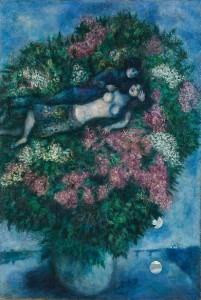 Lovers among Lilacs