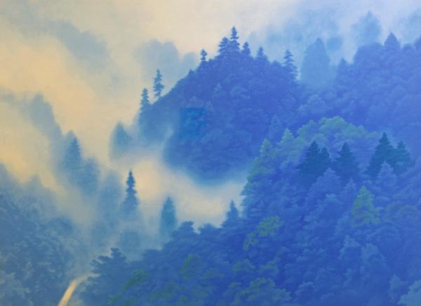 山嶺湧雲(リトグラフ作品) 東山魁夷