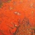 三岸節子 赤い花