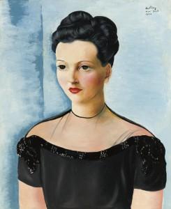 ラウル・デュフィ「或る夫人の肖像」