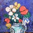 Paul Aizpiri アイズピリ「青いバックの花」