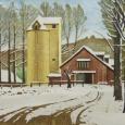 岡鹿之助『残雪の牧場』