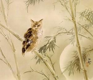 橋本関雪「雨後新月」