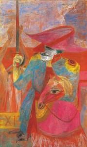 国吉康雄『退場』1948-50年 127×76.2cm