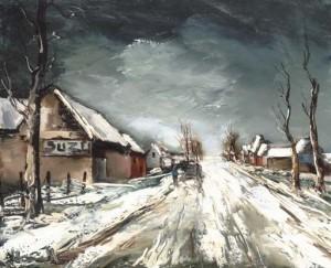 モーリス・ド・ヴラマンク「雪道」