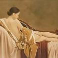 布を纏う裸婦