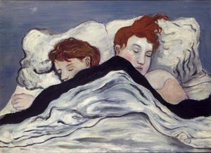 海老原喜之助「二人の女」1927 油彩