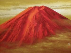 清水規「赤富士」