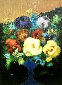 鷹山宇一「山麓の花」