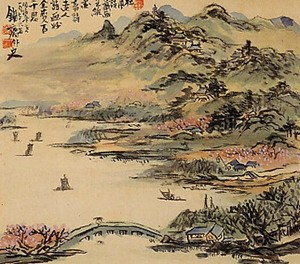 富岡鉄斎「江南春暁小幀」shinwa 2003/05/24