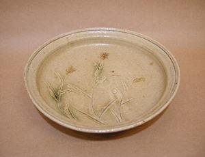 加藤唐九郎「黄瀬戸草文鉢」