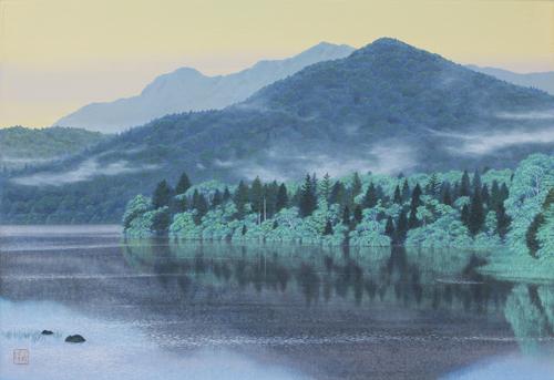黒岩善隆 湖畔の午後 20号