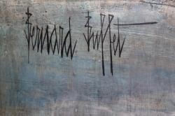 ベルナール・ビュッフェ Bernard Buffet 油彩作品 画面サイン