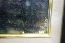 ベルナール・ビュッフェ Bernard Buffet 油彩作品 画面詳細