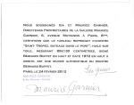 ベルナール・ビュッフェ Bernard Buffet モーリス・ガルニエの鑑定証書