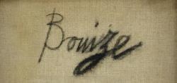 ベルナール・ビュッフェ Bernard Buffet 油彩作品 キャンバス裏サイン