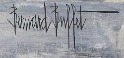 ベルナール・ビュッフェ Bernard Buffet 油彩作品 作家サイン