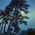 川瀬巴水 馬込の月 木版画